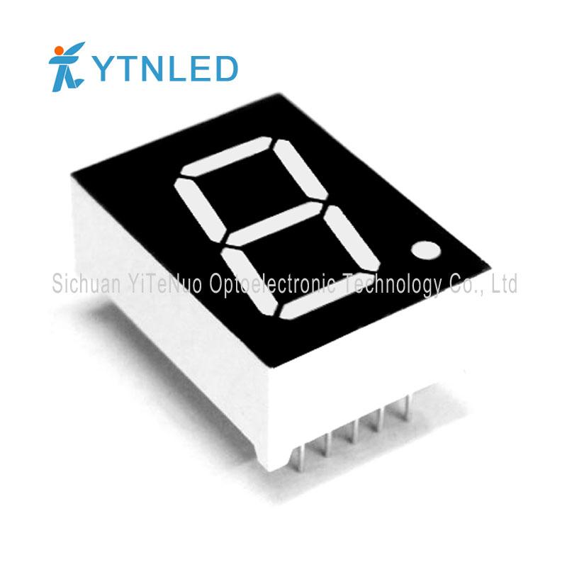 0.8 инчов червен 1 цифрен 7 сегментен LED дисплей, цифрова тръба