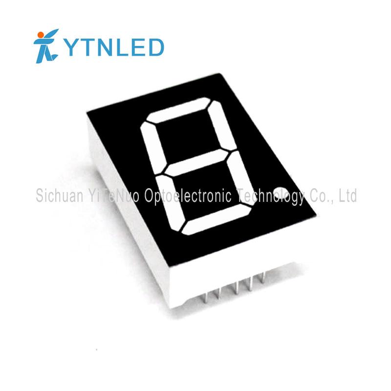 1 инчов червен 1 цифрен 7 сегментен LED дисплей, цифрова тръба