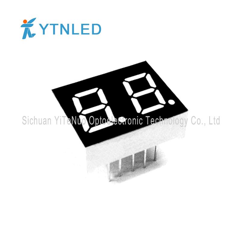 0,4 инчов двуцифрен червен 7-сегментен LED дисплей, цифрова тръба