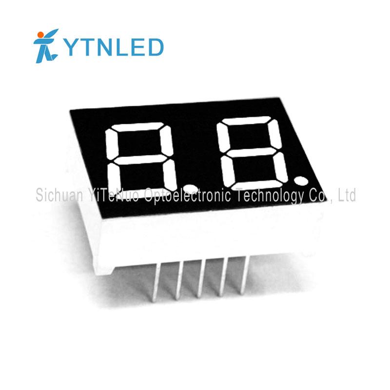 0,5 инчов двуцифрен червен 7-сегментен LED дисплей, цифрова тръба