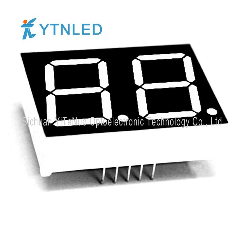 0.8 инчов двуцифрен червен 7-сегментен LED дисплей, цифрова тръба