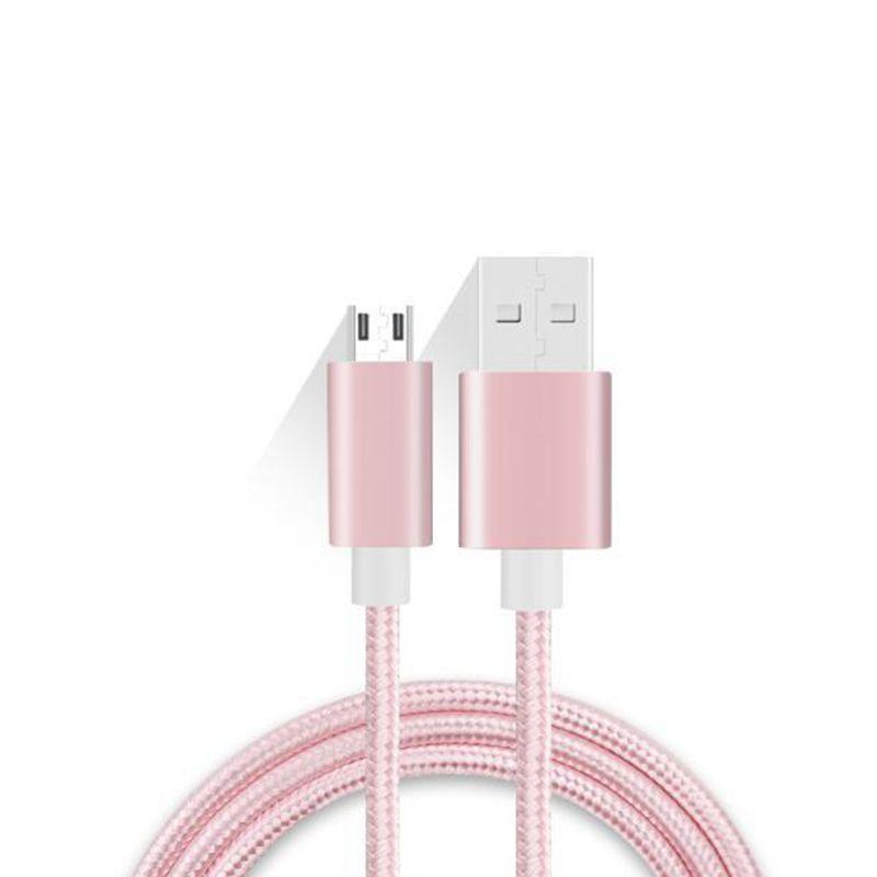 Найлонов плетен микро кабел към USB зареждане
