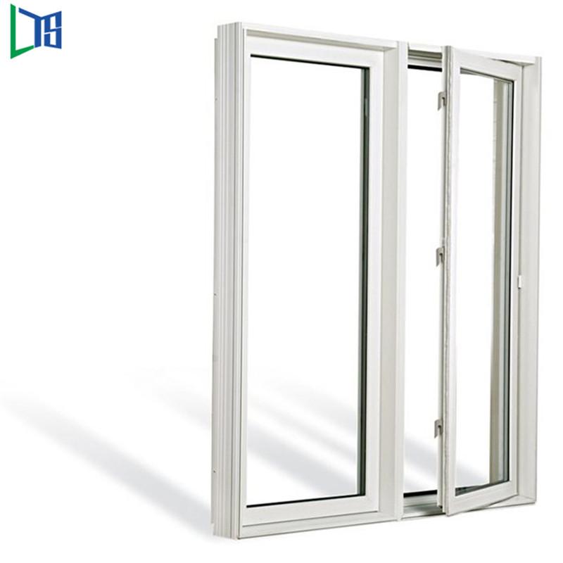 Прозорци с алуминиева крила с люлеещи се прозорци с прахово покритие, завършени единично двойно стъкло