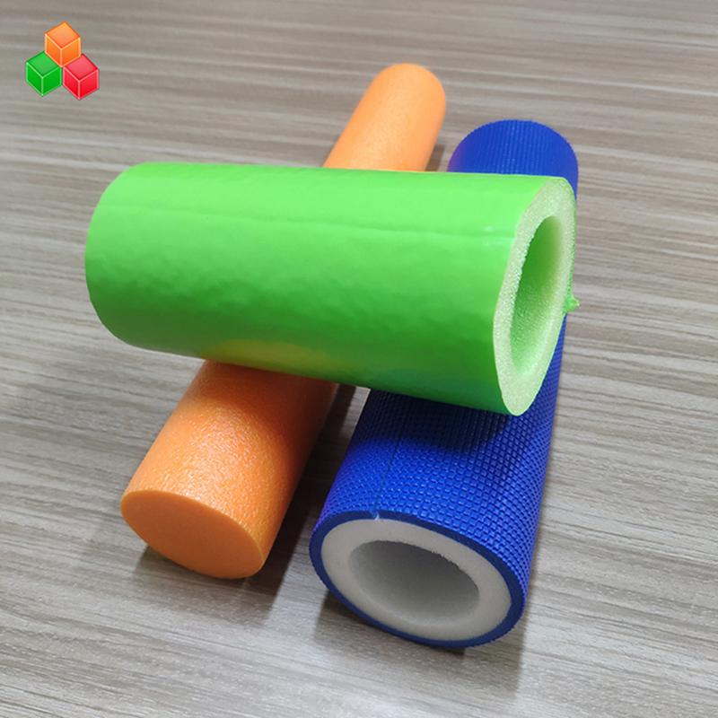 Цветно лого по индивидуална форма супер меки тръби от куха пяна PVC EVA EPE пяна кръгла тръба за оборудване / опаковка на детски площадки